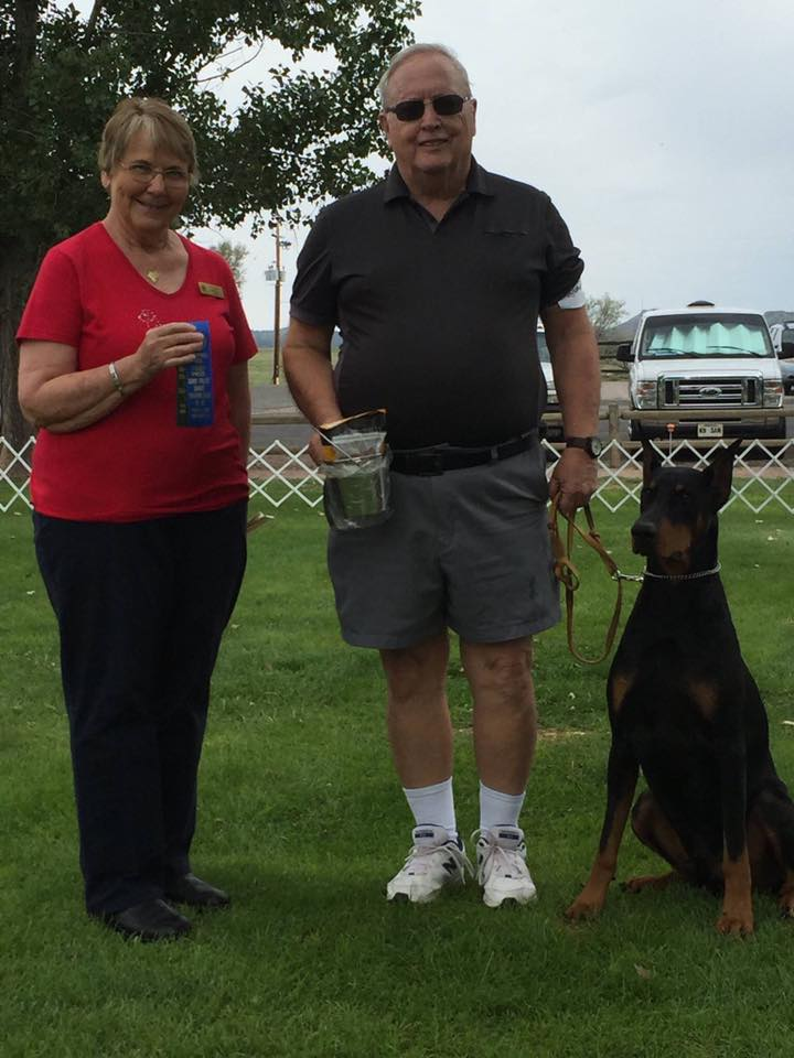 Club member Bob Allen & his boy Kris received their Beginner Novice Title today at the Chino Valley Obedience Show with a 195.5 and 1st Place ribbon!!!! Congratulations Bob & Kris!